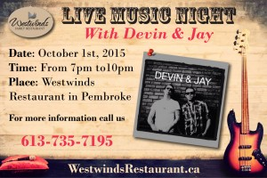 Westwinds Live Music Night
