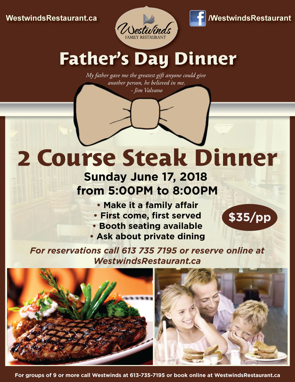 Father's Day 2018: Treat Dad to a 2 Course Steak Dinner [Expired]