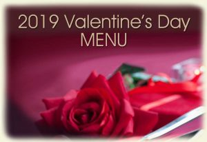 Valentine's Day Menu-2019
