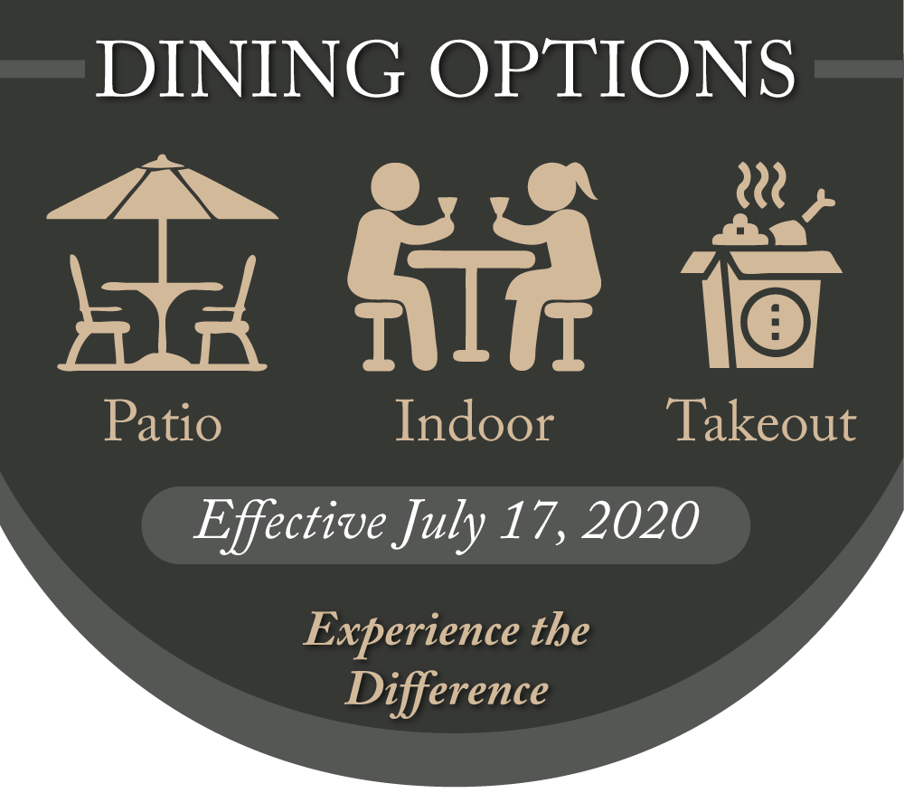 Patio-Indoor Dining-Take Out