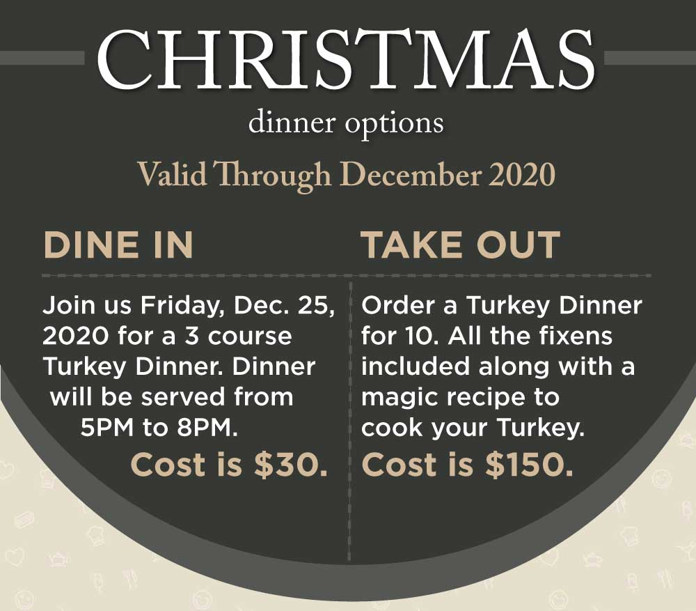 Christmas Dinner To Go or Dine at Westwinds?
