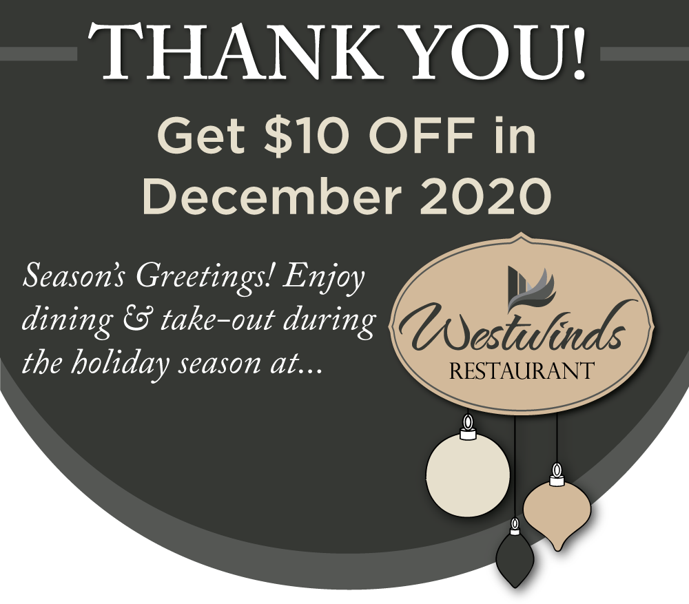 A Big 2020 Thanks from Westwinds