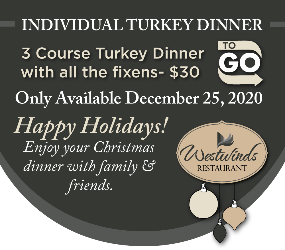 Christmas Day: Individual 3 Course Turkey Dinners To Go [Expired]
